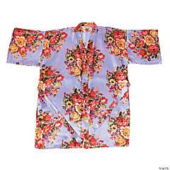 Bright Lavendar Floral Robe