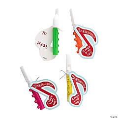 Bright Mini Flutes with Valentine's Day Card