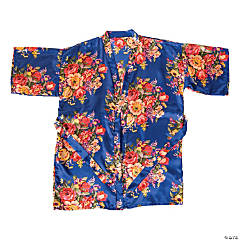 Bright Navy Floral Robe