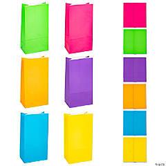 Bright Neon Paper Treat Bags