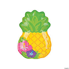 Bright Pineapple Paper Dinner Plates - 8 Ct.