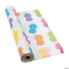 Bright Pineapple Plastic Tablecloth Roll
