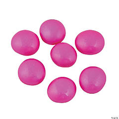 Bright Pink Pearlized Glass Beads