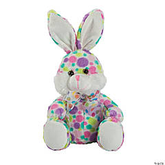 Bright Polka Dot Stuffed Easter Bunny
