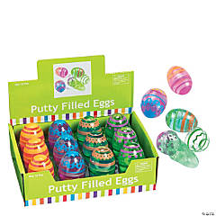 Bright Putty-Filled Plastic Easter Eggs