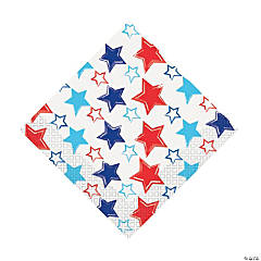 Bright Stars & Stripes Luncheon Napkins