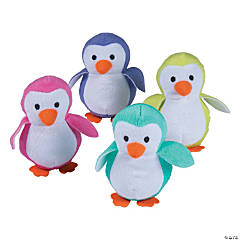 Bright Stuffed Penguins