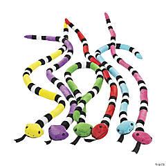 Bright Stuffed Snakes - 12 Pc.