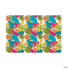 Bright Tropical Leaf Backdrop Banner