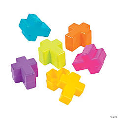 Brightly Colored Cross Favor Containers - 24 Pc.