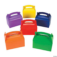 Brightly Colored Favor Boxes