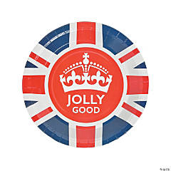 British Party Paper Dinner Plates - 8 Ct.