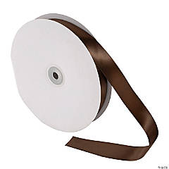 Brown Double Faced Satin Ribbon - 7/8