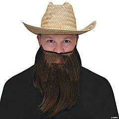 Brown Full Beard & Mustache
