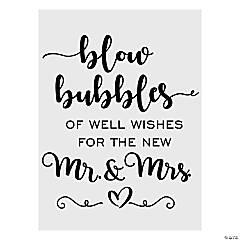 Bubble Send-Off Sign
