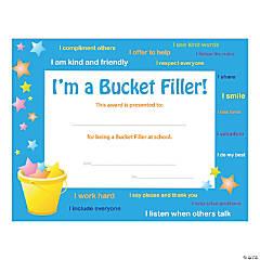 Bucket Filler Award (Certificate) - Qty 180