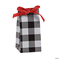 Buffalo Plaid Favor Containers