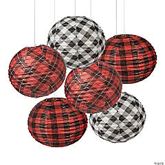 Buffalo Plaid Hanging Paper Lanterns