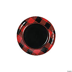 Buffalo Plaid Paper Dessert Plates - 8 Ct.