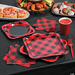 Buffalo Plaid Party Supplies