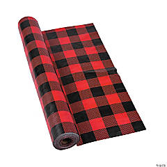 Buffalo Plaid Plastic Tablecloth Roll