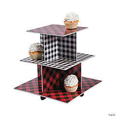 Buffalo Plaid Treat Stand