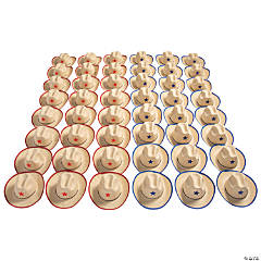 Bulk Adult's Cowboy Hats with Star