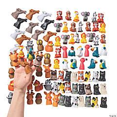 Bulk Animal Finger Puppet Assortment - 96 Pc.