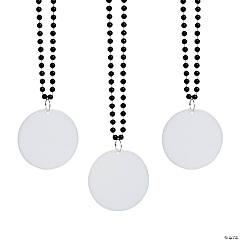 Bulk Black Bead Necklaces with Round Discs - 150 Pc.
