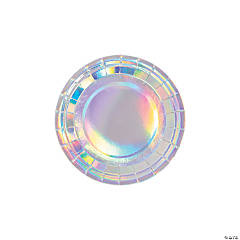 Bulk Bright Confetti Iridescent Paper Dessert Plates - 250 Pc.