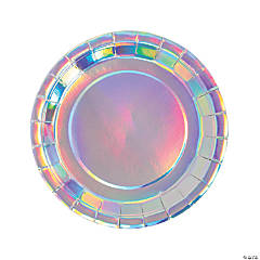 Bulk Bright Confetti Iridescent Paper Dinner Plates - 250 Pc.