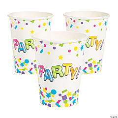 Bulk Bright Confetti Party Paper Cups - 250 Pc.