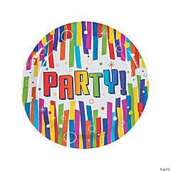 Bulk Bright Party Dinner Plates