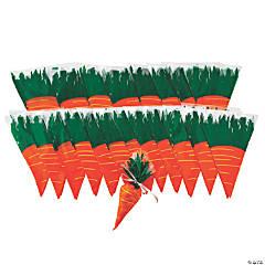 Bulk Carrot-Shaped Cellophane Bags - 240 Pc.
