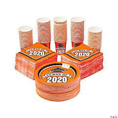 Bulk Class of 2020 Orange Tableware Kit for 100 Guests
