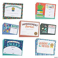 Bulk Class Reward Certificate Assortment