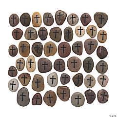 Bulk Cross Worry Stones - 48 Pc.