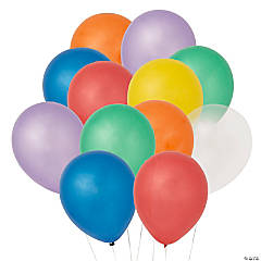 "Bulk Crystaltone Color 11"" Latex Balloons"