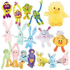 Bulk Easter Stuffed Animal Assortment - 72 Pc.