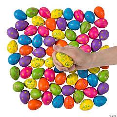 Bulk Egg-Shaped Stress Balls - 72 Pc.