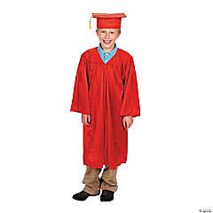 Bulk Elementary School Red Graduation Cap & Gown Sets