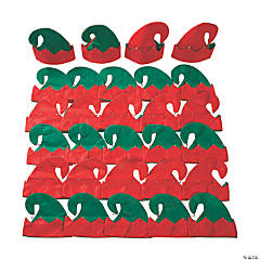 Bulk Elf Hats with Bells - 30 Pc.