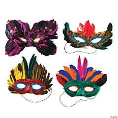 Bulk Feather Mask Assortment - 50 Pc.