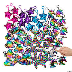 Bulk Flipping Sequin Keychain Assortment