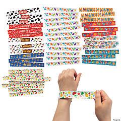 Bulk Fun Icons Slap Bracelet Assortment