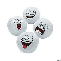 Bulk Funny Face Plush Snowballs