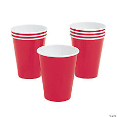 Bulk Glossy Red Paper Cups