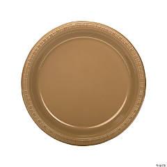 Bulk Gold Plastic Dinner Plates - 50 Ct.