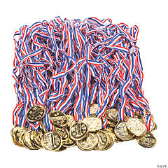 Bulk Goldtone Winner Medals