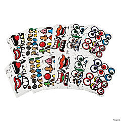 Bulk Goofy Jack-O'-Lantern Face Stickers - 144 Pc.